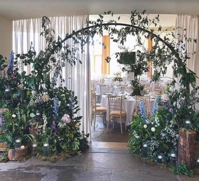2.4m meadow arch indoor walkway