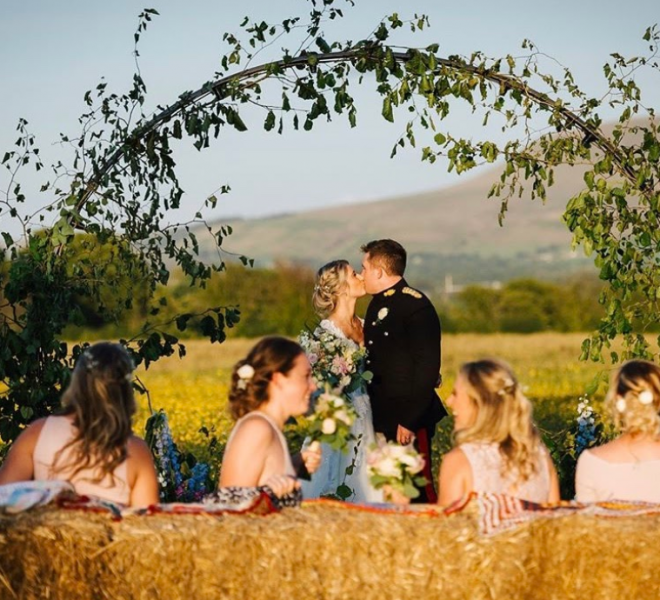 2.7m arch - outdoor ceremony with no lighting