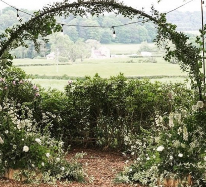 2.7m arch - outdoor woodland ceremony without lighting